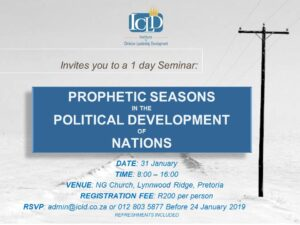 PROPHETIC SEASONS